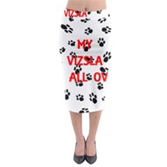 My Vizsla Walks On Me  Midi Pencil Skirt