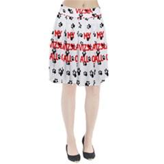My Vizsla Walks On Me  Pleated Skirt