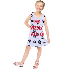 My Vizsla Walks On Me  Kids  Tunic Dress