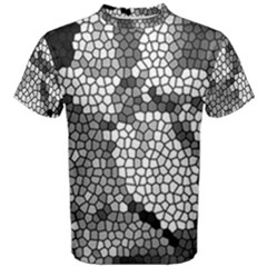 Mosaic Stones Glass Pattern Men s Cotton Tee