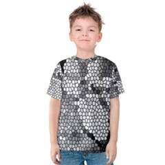 Mosaic Stones Glass Pattern Kids  Cotton Tee