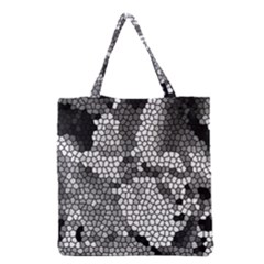 Mosaic Stones Glass Pattern Grocery Tote Bag