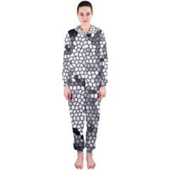 Mosaic Stones Glass Pattern Hooded Jumpsuit (Ladies)