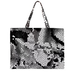 Mosaic Stones Glass Pattern Large Tote Bag