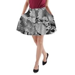 Mosaic Stones Glass Pattern A-Line Pocket Skirt