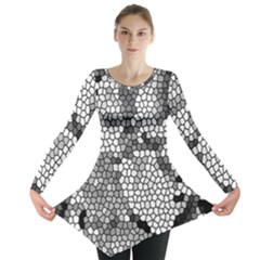 Mosaic Stones Glass Pattern Long Sleeve Tunic