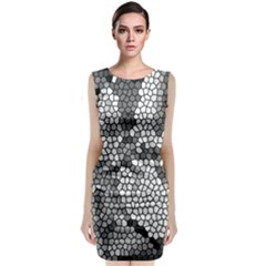Mosaic Stones Glass Pattern Classic Sleeveless Midi Dress
