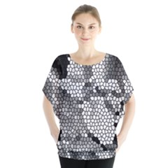Mosaic Stones Glass Pattern Blouse