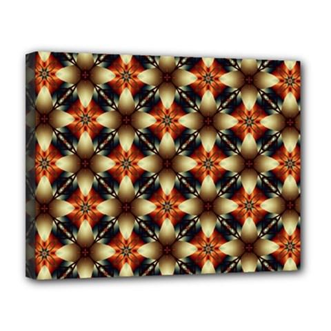 Kaleidoscope Image Background Canvas 14  x 11