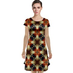 Kaleidoscope Image Background Cap Sleeve Nightdress