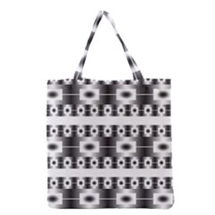 Pattern Background Texture Black Grocery Tote Bag