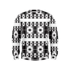 Pattern Background Texture Black Kids  Sweatshirt