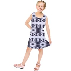 Pattern Background Texture Black Kids  Tunic Dress