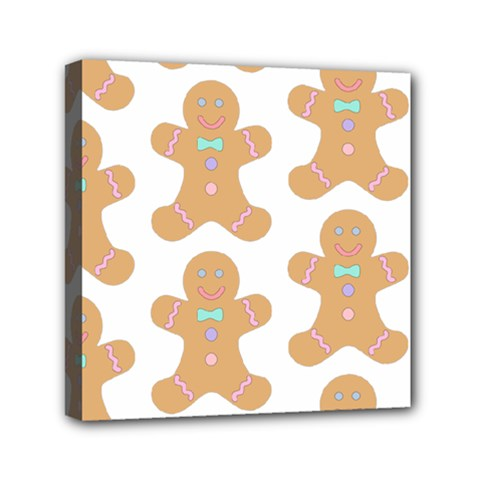 Pattern Christmas Biscuits Pastries Mini Canvas 6  x 6