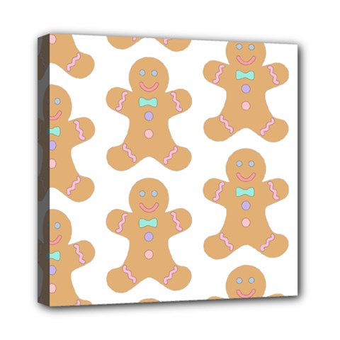 Pattern Christmas Biscuits Pastries Mini Canvas 8  x 8