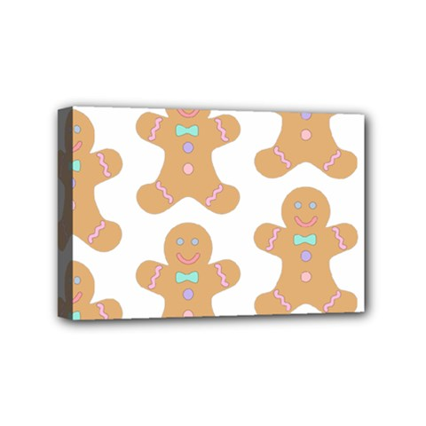 Pattern Christmas Biscuits Pastries Mini Canvas 6  x 4
