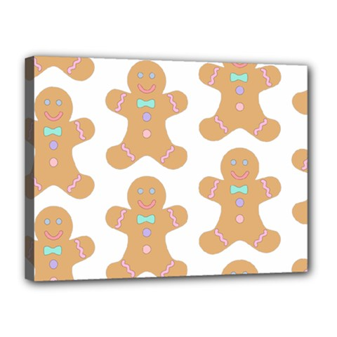 Pattern Christmas Biscuits Pastries Canvas 16  x 12