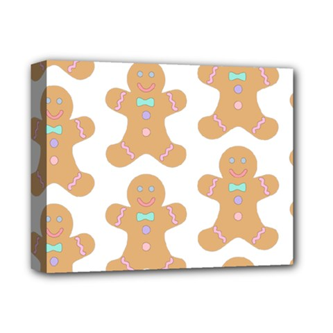 Pattern Christmas Biscuits Pastries Deluxe Canvas 14  x 11