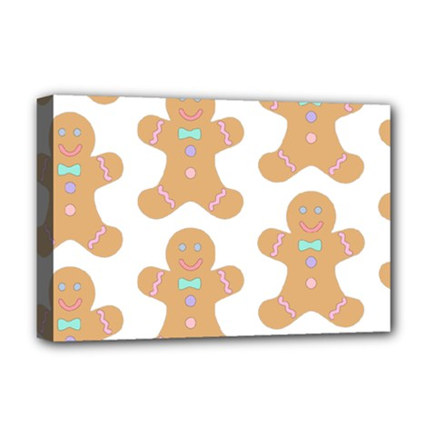 Pattern Christmas Biscuits Pastries Deluxe Canvas 18  x 12