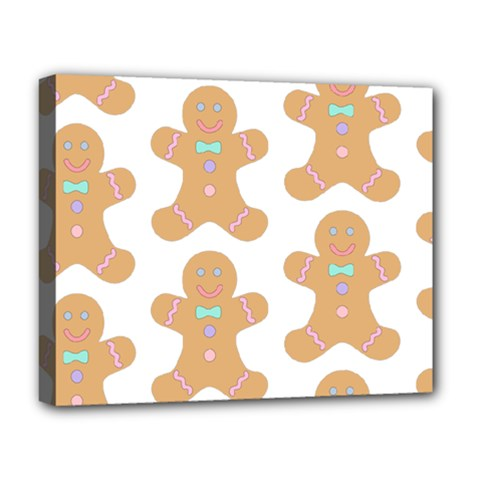 Pattern Christmas Biscuits Pastries Deluxe Canvas 20  x 16