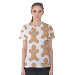Pattern Christmas Biscuits Pastries Women s Cotton Tee