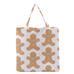 Pattern Christmas Biscuits Pastries Grocery Tote Bag