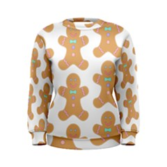 Pattern Christmas Biscuits Pastries Women s Sweatshirt