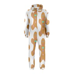 Pattern Christmas Biscuits Pastries Hooded Jumpsuit (Kids)