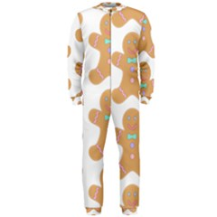 Pattern Christmas Biscuits Pastries OnePiece Jumpsuit (Men)