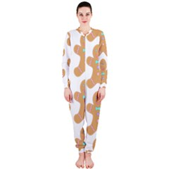 Pattern Christmas Biscuits Pastries OnePiece Jumpsuit (Ladies)