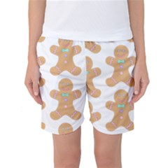 Pattern Christmas Biscuits Pastries Women s Basketball Shorts