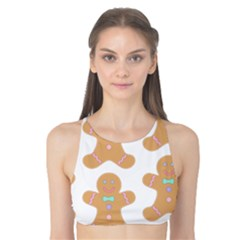 Pattern Christmas Biscuits Pastries Tank Bikini Top