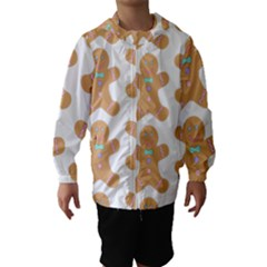 Pattern Christmas Biscuits Pastries Hooded Wind Breaker (Kids)