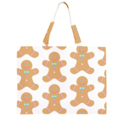 Pattern Christmas Biscuits Pastries Large Tote Bag