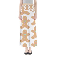 Pattern Christmas Biscuits Pastries Maxi Skirts