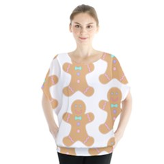 Pattern Christmas Biscuits Pastries Blouse
