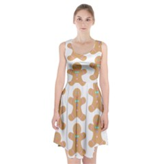 Pattern Christmas Biscuits Pastries Racerback Midi Dress