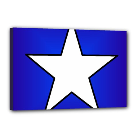 Star Background Tile Symbol Logo Canvas 18  x 12