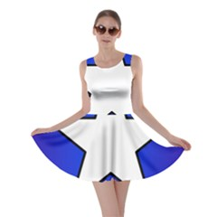 Star Background Tile Symbol Logo Skater Dress