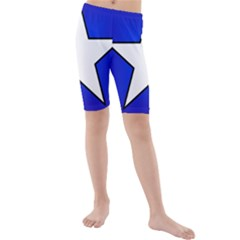 Star Background Tile Symbol Logo Kids  Mid Length Swim Shorts