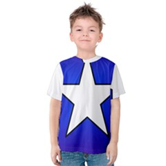 Star Background Tile Symbol Logo Kids  Cotton Tee