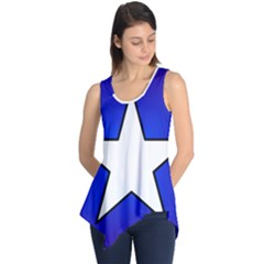 Star Background Tile Symbol Logo Sleeveless Tunic
