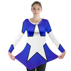 Star Background Tile Symbol Logo Long Sleeve Tunic