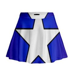 Star Background Tile Symbol Logo Mini Flare Skirt