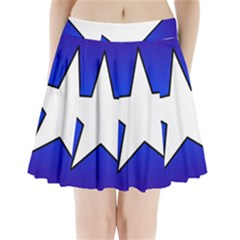 Star Background Tile Symbol Logo Pleated Mini Skirt