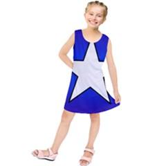 Star Background Tile Symbol Logo Kids  Tunic Dress