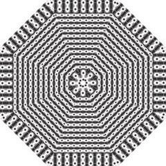 Pattern Background Texture Black Hook Handle Umbrellas (Small)