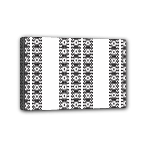 Pattern Background Texture Black Mini Canvas 6  x 4
