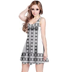 Pattern Background Texture Black Reversible Sleeveless Dress