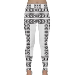 Pattern Background Texture Black Classic Yoga Leggings